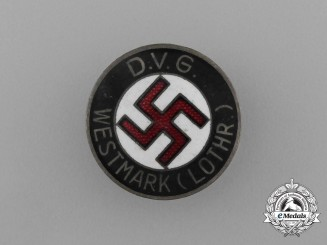 A Deutscher Volksgenossen Bund (DVG) Westmark Membership Badge by W. Redo