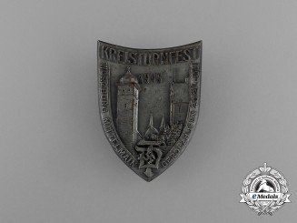 A 1935 Würzburg Mittelmain Regional Gymnastics Festival Badge