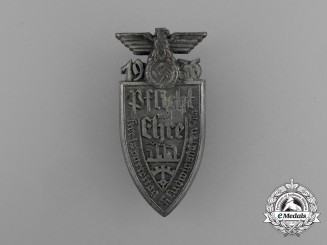"A 1936 Ludwigshafen ""Duty and Honour"" District Party Day Badge"