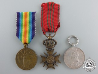 Three First War Period European Miniature Medals and Awards