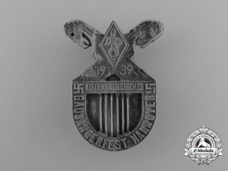A 1939 Hannover Regional Festival of Singers Badge by Fritz Mosbach of Hannover