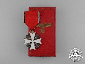 A 5th Class German Eagle Order; Officer by Godet with Case