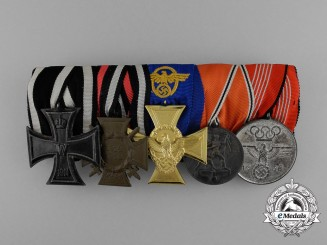A First War & Third Reich Olympic Medal Bar