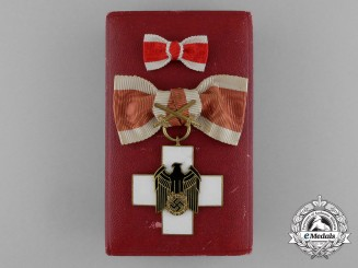 A Ladies German Social Welfare Honour Cross; 3rd Class with Swords