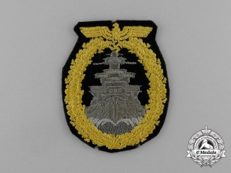 A Scarce Cloth Version of a Kriegsmarine High Seas Fleet Badge