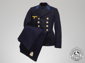 A 1940 Kriegsmarine Pea Coat & Trousers