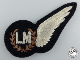 A Second War Royal Air Force (RAF) Loadmaster (LM) Wing