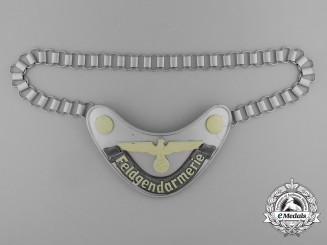 A Mint Feldgendarmerie (Army Military Field Police) Gorget