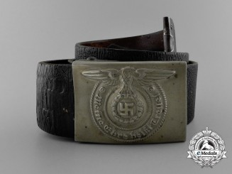 An Early Waffen-SS EM/NCO's Belt with Buckle by Overhoff & Cie
