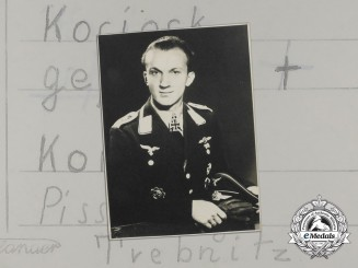 A Private Studio Picture Postcard of Knight's Cross Recipient: Josef Kociok