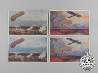 Germany, Imperial. A First War-Era Artist-Rendered Aviation Postcards