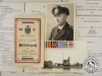 An Extensive Collection of Awards, Photos, & Documents of Kriegsmarine Machinist
