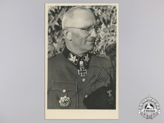 A Photo from Diamond Winner 'SS-Obergruppenführer Herbert Otto Gille With Original Signature