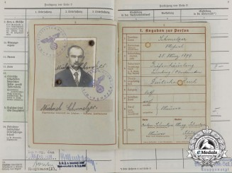 A Wehrpaß and Gesundheitsbuch to the Landesschutz-Batallion 847