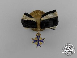 A First War Period Miniature Pour le Mérite Boutonnière by M. Fleck & Sohn