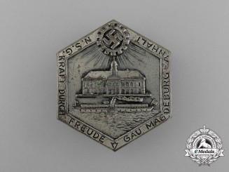 A Third Reich Period KDF Vacation in the Magdeburg-Anhalt Region Badge
