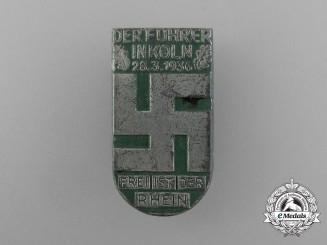 "A 1936 ""The Führer in Cologne"" Celebration Badge"