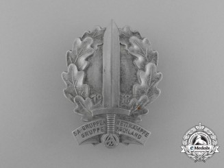 A 1938 SA-Group Hochland Championships Badge by Christian Lauer of Nürnberg