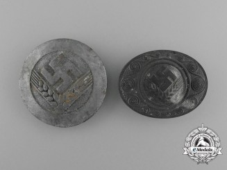 A Grouping of Two Third Reich Period RAD Reichsarbeitsdienst Badges