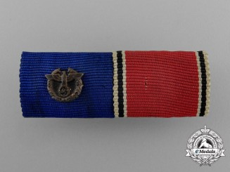 A German Police Long Service and Austrian Anschluss Medal Ribbon Bar