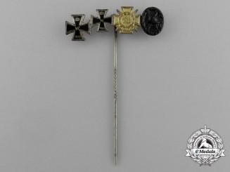 A First War German Iron Cross 1914 Miniature Grouping Stick Pin
