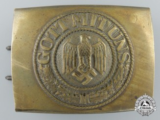 A Second War Kriegsmarine Belt Buckle by Noelle & Hueck Ludenscheid