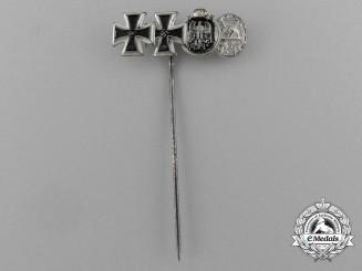 An Iron Cross Grouping Miniature Stick Pin by Steinhauer & Lück of Lüdenscheid