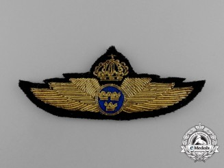 A Swedish Air Force Service Badge M/26