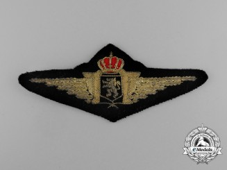 A Belgian Air Force Officer Pilot's Badge