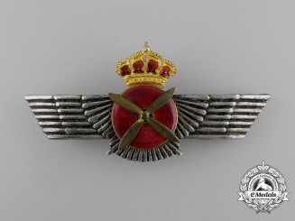 A Spanish Air Force (SPAF) Pilot Badge (King Juan Carlos, 1975-2014)