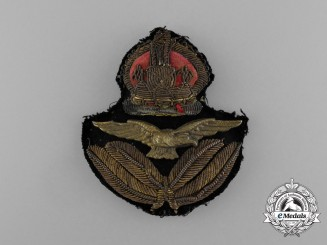 A Royal Air Force (RAF) Officer's Cap Badge