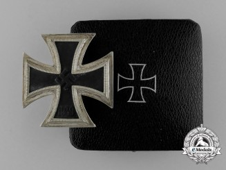 An Iron Cross 1939 First Class by C. E. Juncker in its Original Case of Issue