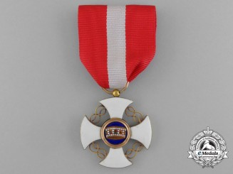 An Italian Order of the Crown in Gold; 5th Class, Knight