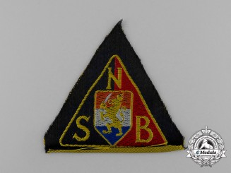 A National Socialist Movement in the Netherlands Black Shirts Sleeve Patch