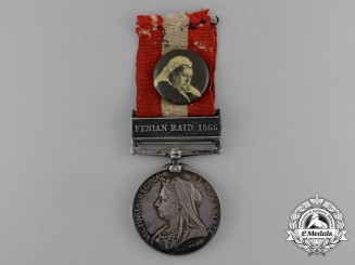 A Canada General Service Medal to Private James Henry Jobbett; Uxbridge Infantry Company