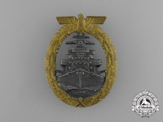 A Mint Kriegsmarine High Seas Fleet Badge by Schwerin of Berlin