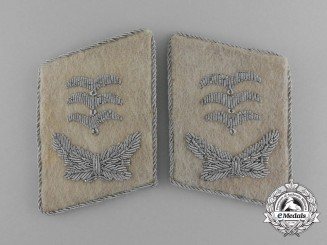 A Scarce Pair of Luftwaffe Hermann Göring Hauptmann Rank Collar Tabs