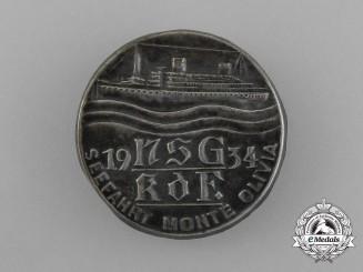 A 1934 KDF (Strength through Joy) See Voyage to Monte Olivia Badge