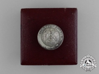 A Scarce German Mexico City Embassy Employee's Badge in its Original Case of Issue