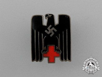 A DRK German Red Cross Membership Badge; Marked