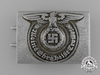A Waffen-SS EM/NCO's Belt Buckle by Overhoff & Cie of Lüdenscheid