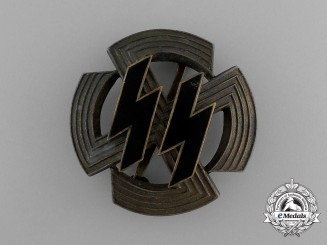 A Rare Germanic Achievement Badge of the SS in Bronze