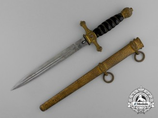 A Scarce 1921 Pattern Black Grip German Navy Dagger, by WKC