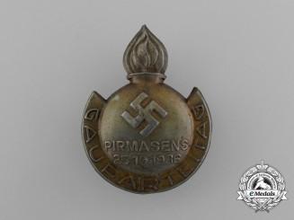 A 1936 NSDAP Pirmasens Regional Party Day Badge