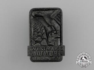 A 1939 Westmark Regional District Day Badge by Julius Maurer GmbH