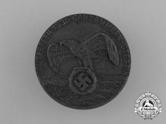 A 1938 Region Pommern-Stettin Meeting Badge