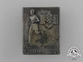A 1938 DRL Wessling 4th District Sportfest Badge