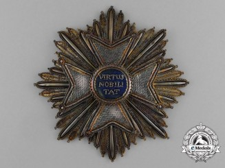 An Order of the Dutch Lion; 1st Class Grand Cross Embroidered Breast Star