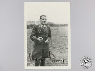 A Signed Private Photograph of Luftwaffe Ace Adolf Galland