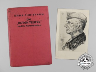 "A Copy of ""The 'Red Devils' and their Commander"" Signed by Author Hans Christern"